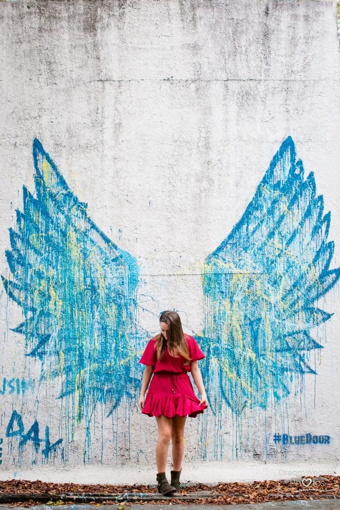angel wings savannah graffiti